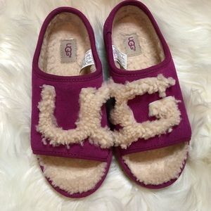 UGG purple wool house slippers
